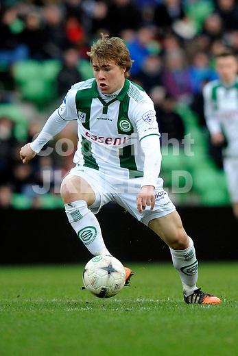 GRONINGEN - Voetbal, FC Groningen - ADO Den Haag, Eredivisie, Euroborg, seizoen 2014-2015, 01-03-2015,  FC Groningen speler Simon Tibbling