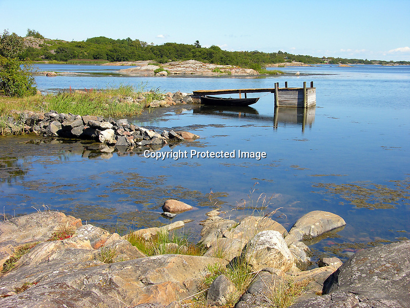 Peaceful Harbor on Island of Kökar, Åland, Finland