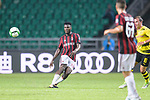 AC Milan Midfielder Franck Kessie looks to bring the ball down during the International Champions Cup 2017 match between AC Milan vs Borussia Dortmund at University Town Sports Centre Stadium on July 18, 2017 in Guangzhou, China. Photo by Marcio Rodrigo Machado / Power Sport Images