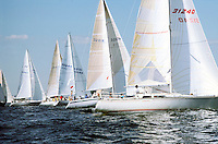SAILBOATS<br /> The Natural Force Of Wind Propels The Boat<br /> Tan colored areas of the sail are made with KEVLAR