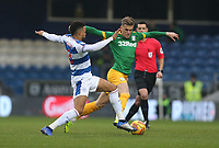 Preston North End's Brad Potts and Queens Park Rangers' Jordan Cousins<br /> <br /> Photographer Rob Newell/CameraSport<br /> <br /> The EFL Sky Bet Championship - Queens Park Rangers v Preston North End - Saturday 19 January 2019 - Loftus Road - London<br /> <br /> World Copyright &copy; 2019 CameraSport. All rights reserved. 43 Linden Ave. Countesthorpe. Leicester. England. LE8 5PG - Tel: +44 (0) 116 277 4147 - admin@camerasport.com - www.camerasport.com