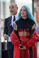 www.acepixs.com<br /> June 9, 2017 New York City<br /> <br /> Matt Lauer and Halsey on NBC's 'Today' at Rockefeller Plaza on June 9, 2017 in New York City. <br /> <br /> Credit: Kristin Callahan/ACE Pictures<br /> <br /> Tel: (646) 769 0430<br /> e-mail: info@acepixs.com