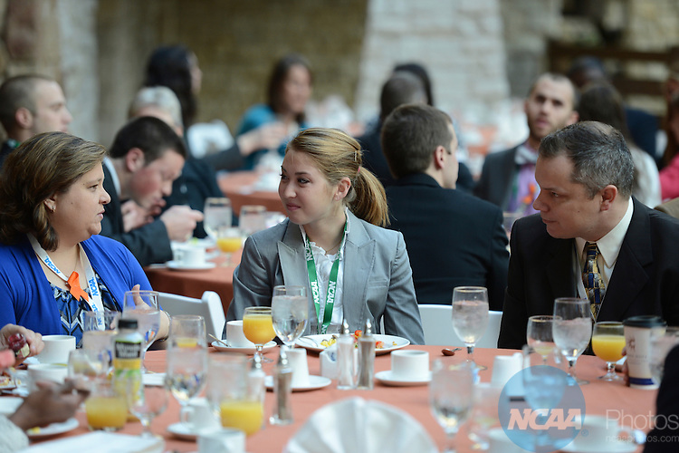 17 JAN 2013: The Division I President's Council/Management Council/SAAC Joint Breakfast event during the 2013 NCAA Convention held at the Gaylord Texan in Grapevine, TX. Stephen Nowland/NCAA Photos.Pictured: Sarah Andrews