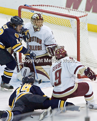 Jordan Black, Cory Schneider, Derek Pallardy, Nathan Gerbe - oston College defeated Merrimack College 3-0 with Tim Filangieri's first two collegiate goals on November 26, 2005 at Kelley Rink/Conte Forum in Chestnut Hill, MA.
