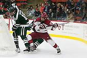 Tyler Sikura (Dartmouth - 16), Seb Lloyd (Harvard - 15), (Kirk) - The Harvard University Crimson tied the visiting Dartmouth College Big Green 3-3 in both team's first game of the season on Saturday, November 1, 2014, at Bright-Landry Hockey Center in Cambridge, Massachusets.