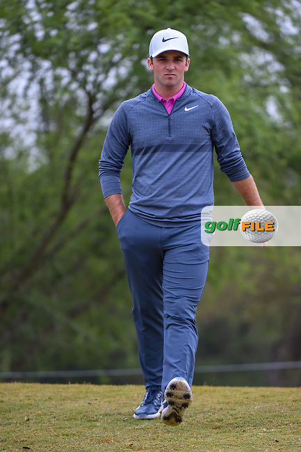 Denny McCarthy (USA) heads down 2 during Round 3 of the Valero Texas Open, AT&T Oaks Course, TPC San Antonio, San Antonio, Texas, USA. 4/21/2018.<br /> Picture: Golffile | Ken Murray<br /> <br /> <br /> All photo usage must carry mandatory copyright credit (© Golffile | Ken Murray)