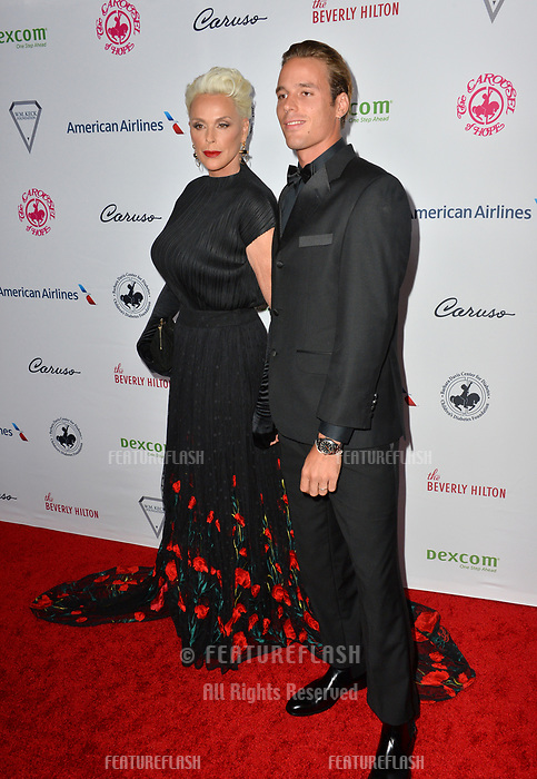 LOS ANGELES, CA. October 06, 2018: Brigitte Nielsen & Douglas Meyer at the 2018 Carousel of Hope Ball at the Beverly Hilton Hotel.<br /> Picture: Paul Smith/Featureflash