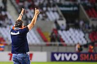 ATENÇÃO EDITOR: FOTO EMBARGADA PARA VEÍCULOS INTERNACIONAIS. - RIO DE JANEIRO, RJ, 06 DE SETEMBRO DE 2012 - CAMPEONATO BRASILEIRO - FLUMINENSE X SANTOS - Abel Braga, treinador do Fluminense, comemora o gol de Wellington Nem,  durante partida contra o Santos, pela 22a rodada do Campeonato Brasileiro, no Stadium Rio (Engenhao), na cidade do Rio de Janeiro, nesta quarta, 06. FOTO BRUNO TURANO BRAZIL PHOTO PRESS