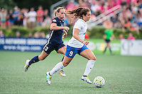 Allston, MA - Sunday July 17, 2016: Christie Rampone, Stephanie McCaffrey during a regular season National Women's Soccer League (NWSL) match between the Boston Breakers and Sky Blue FC at Jordan Field.