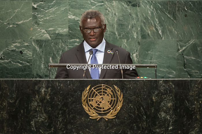 Solomon Islands<br /> H.E. Mr. Manasseh Sogavare<br /> Prime Minister<br /> <br /> General Assembly Seventy-first session, 17th plenary meeting<br /> General Debate