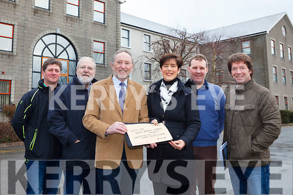 Committee members with Restore Fenit Diving Boards (RFDB), pictured with Mayor of Tralee Norma Foley at County Buildings on Monday morning ahead of their meeting with the council. Pictured were: Liam Doyle, Paddy Kissane, Billy Ryle, Norma Foley, Mike O'NEill and John Edwards.