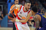 League ACB-ENDESA 2017/2018.<br /> PlayOff-Semifinal-Game: 3<br /> FC Barcelona Lassa vs Kirolbet Baskonia: 67-65.<br /> Marcelinho Huertas.