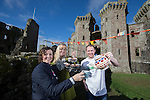 Big Lunch launch Raglan Castle.<br /> L-R: Eleri Rosier, Lucy Bradley &amp; Gwion Thorpe.<br /> 24.02.14<br /> <br /> &copy;Steve Pope-FOTOWALES