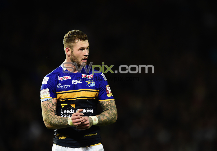 Picture by Alex Broadway/SWpix.com - 10/10/2015 - Rugby League - First Utility Super League Grand Final - Leeds Rhinos v Wigan Warriors - Old Trafford, Manchester, England - Zak Hardaker of Leeds Rhinos.