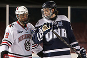 Trevor Owens (NU - 2), Brendan van Riemsdyk (UNH - 7) - The Northeastern University Huskies and University of New Hampshire Wildcats tied 2-2 on Saturday, January 14, 2017, at Fenway Park in Boston, Massachusetts.