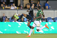 San Jose, CA - Saturday September 30, 2017: Danny Hoesen during a Major League Soccer (MLS) match between the San Jose Earthquakes and the Portland Timbers at Avaya Stadium.