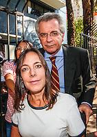SAO PAULO, SP, 31 AGOSTO 2012 - ELEICOES 2012 - JOSE SERRA - Andrea Matarazzo e Mara Gabrile na APAE para encontro promovido pela entidade, no bairro de Vila Mariana, regiao sul da capital paulista, nesta sexta-feira, 31. (FOTO: VANESSA CARVALHO / BRAZIL PHOTO PRESS).