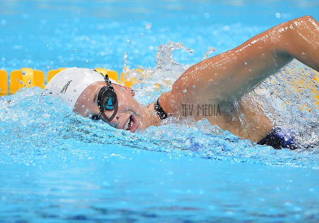 August 04, 2012..Alyssa Andeson swims in the Olympic pool located at the Aquatics Center on day eight of 2012 Olympic Games in London, United Kingdom.