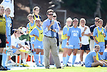 28 August 2011: UNC head coach Anson Dorrance. The University of North Carolina Tar Heels defeated the University of Houston Cougars 6-1 at Fetzer Field in Chapel Hill, North Carolina in an NCAA Women's Soccer game.