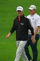 Michael Hoey (NIR) walks off the 10th tee during Saturay's Round 3 of the 2014 BMW Masters held at Lake Malaren, Shanghai, China. 1st November 2014.<br /> Picture: Eoin Clarke www.golffile.ie