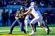 Morgantown, WV - NOV 10, 2018: West Virginia Mountaineers defensive lineman Dante Stills (55) and TCU Horned Frogs offensive tackle Anthony McKinney (68) battle at the line of scrimmage during game between West Virginia and TCU at Mountaineer Field at Milan Puskar Stadium Morgantown, West Virginia. (Photo by Phil Peters/Media Images International)