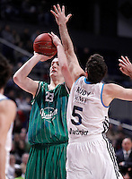 Real Madrid's Rudy Fernandez (r) and Union Olimpija Ljubljana's Alen Omic during Euroleague 2012/2013 match.December 13,2012. (ALTERPHOTOS/Acero) /NortePhoto