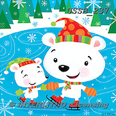 Sarah, CHRISTMAS ANIMALS, WEIHNACHTEN TIERE, NAVIDAD ANIMALES, paintings+++++PolarSkating-11-A,USSB237,#XA#