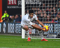 Raul Jimenez of Wolverhampton Wanderers right retrieves the ball after scoring from the penalty spot to make the score 1-1  during AFC Bournemouth vs Wolverhampton Wanderers, Premier League Football at the Vitality Stadium on 23rd February 2019