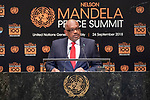 Opening Plenary Meeting of the Nelson Mandela Peace Summit<br /> <br /> <br /> His Excellency Hubert Alexander MINNISPrime Minister of the Commonwealth of the Bahamas