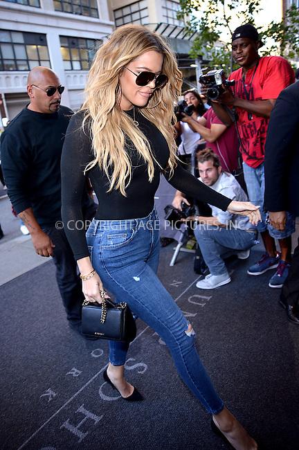 WWW.ACEPIXS.COM<br /> <br /> September 15 2015, New York City<br /> <br /> Khloe Kardashian arrives at a downtown hotel on September 15 2015 in New York City<br /> <br /> By Line: Curtis Means/ACE Pictures<br /> <br /> <br /> ACE Pictures, Inc.<br /> tel: 646 769 0430<br /> Email: info@acepixs.com<br /> www.acepixs.com
