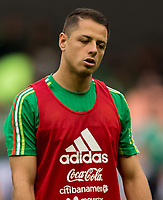 Mexico City, Mexico - Sunday June 11, 2017: Chicharito, Javier Hernandez during a 2018 FIFA World Cup Qualifying Final Round match with both men's national teams of the United States (USA) and Mexico (MEX) playing to a 1-1 draw at Azteca Stadium.