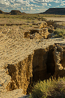 Europe, Espagne, Navarre, env d'Arguedas: Parc Naturel des Bardenas Reales, Réserve de biosphère,  La Blanca Baja  // Europe, Spain, Navarre, near Arguedas: Bardenas Reales Natural Park, Biosphere Reserve,   White Bardena