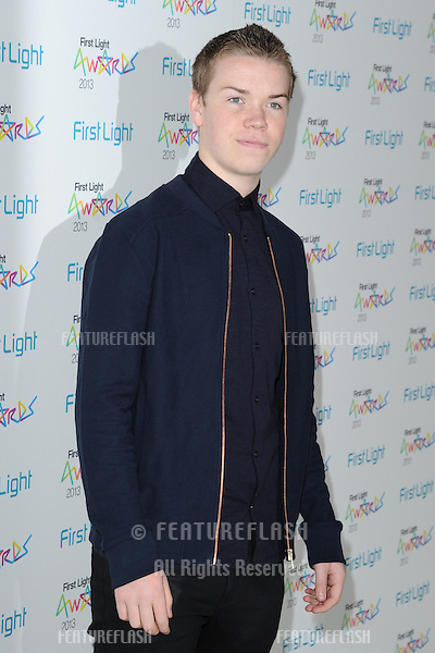 Will Poulter arriving for the First Light Movie Awards 2013 at the Odeon Leicester Square, London. 19/03/2013 Picture by: Steve Vas / Featureflash