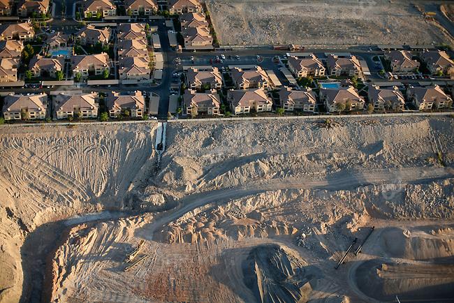 Aerial views of housing devlopments, Las Vegas, Nevada, USA, April 14, 2008