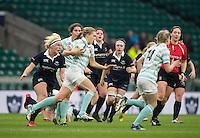 Twickenham, United Kingdom. Cambridge Full Back, Alice MIDDLEON in full flow, during the  2016 Women's Varsity Rugby, [Oxford vs Cambridge], Twickenham. UK, at the RFU Stadium, Twickenham, England, <br /> <br /> Thursday  08/12/2016<br /> <br /> [Mandatory Credit; Peter Spurrier/Intersport-images]