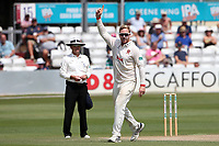 Simon Harmer of Essex celebrates taking the wicket of Olly Stone during Essex CCC vs Warwickshire CCC, Specsavers County Championship Division 1 Cricket at The Cloudfm County Ground on 16th July 2019
