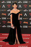 Juana Acosta attends 30th Goya Awards red carpet in Madrid, Spain. February 06, 2016. (ALTERPHOTOS/Victor Blanco)