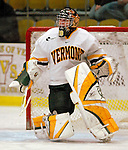 "19 January 2007: University of Vermont goaltender Joe Fallon (29) from Bemidji, MN, warms up prior to facing Boston College in a Hockey East division matchup at Gutterson Fieldhouse in Burlington, Vermont. The UVM Catamounts defeated the BC Eagles 3-2 before a record setting 50th consecutive sellout at ""the Gut""...Mandatory Photo Credit: Ed Wolfstein Photo."