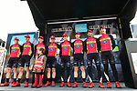 Team Raleigh GAC at sign on before the start of Stage 1 of the Tour de Yorkshire 2017 running 174km from Bridlington to Scarborough, England. 28th April 2017. <br /> Picture: ASO/P.Ballet | Cyclefile<br /> <br /> <br /> All photos usage must carry mandatory copyright credit (&copy; Cyclefile | ASO/P.Ballet)