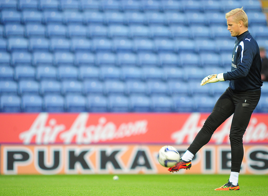 Leicester City's Kasper Schmeichel ..Football - npower Football League Championship - Leicester City v Ipswich Town - Saturday 17th November 2012 - King Power Stadium - Leicester..