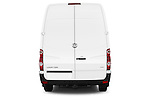 Straight rear view of a 2014 Volkswagen CRAFTER 2.0TDI 4 Door Cargo Van Rear View  stock images