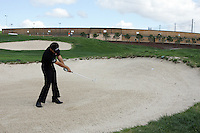 Nick Dougherty plays his 2nd shot out of fairway bunker on the 18th hle in the 3rd Round of the Open de Espana in Madrid...Photo NEWSFILE/Eoin Clarke.(Photo credit should read Eoin Clarke/NEWSFILE)....This Picture has been sent you under the condtions enclosed by:.Newsfile Ltd..The Studio,.Millmount Abbey,.Drogheda,.Co Meath..Ireland..Tel: +353(0)41-9871240.Fax: +353(0)41-9871260.GSM: +353(0)86-2500958.email: pictures@newsfile.ie.www.newsfile.ie.FTP: 193.120.102.198..