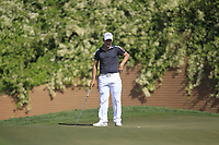 Emiliano Grillo (ARG) in action on the 10th during Round 3 of the Hero Indian Open at the DLF Golf and Country Club on Saturday 10th March 2018.<br /> Picture:  Thos Caffrey / www.golffile.ie<br /> <br /> All photo usage must carry mandatory copyright credit (&copy; Golffile | Thos Caffrey)