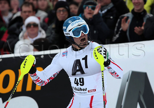 22.12.2011. Kitzbuehel, Austria. Wolfgang HOERL AUT in action during the Alpine Ski World Cup Hahnenkamm Slalom