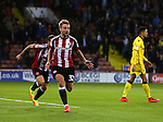 Harry Chapman of Sheffield Utd celebrates scoring the winning goal during the League One match at Bramall Lane Stadium, Sheffield. Picture date: September 27th, 2016. Pic Simon Bellis/Sportimage