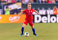 PHILADELPHIA, PA - AUGUST 29: Emily Sonnett #14 of the United States controls the ball during a game between Portugal and the USWNT at Lincoln Financial Field on August 29, 2019 in Philadelphia, PA.