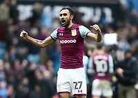 Ahmed Elmohamady of Aston Villa celebrates Aston Villa's victory against Birmingham City.<br /> <br /> Photographer Leila Coker/CameraSport<br /> <br /> The EFL Sky Bet Championship - Aston Villa v Birmingham City - Sunday 11th February 2018 - Villa Park - Birmingham<br /> <br /> World Copyright &copy; 2018 CameraSport. All rights reserved. 43 Linden Ave. Countesthorpe. Leicester. England. LE8 5PG - Tel: +44 (0) 116 277 4147 - admin@camerasport.com - www.camerasport.com<br /> Photographer Leila Coker/CameraSport<br /> <br /> The EFL Sky Bet Championship - Aston Villa v Birmingham City - Sunday 11th February 2018 - Villa Park - Birmingham<br /> <br /> World Copyright &copy; 2018 CameraSport. All rights reserved. 43 Linden Ave. Countesthorpe. Leicester. England. LE8 5PG - Tel: +44 (0) 116 277 4147 - admin@camerasport.com - www.camerasport.com