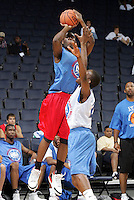 WF Malik Story (Lakewood, CA / Artesia) shoots the ball during the NBA Top 100 Camp held Saturday June 23, 2007 at the John Paul Jones arena in Charlottesville, Va. (Photo/Andrew Shurtleff)