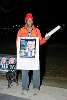 A man sells Trump-themed souvenirs after the Make America Great Again! Welcome Celebration honoring soon-to-be president Donald Trump at the Lincoln Memorial in  Washington, D.C., on Thurs., Jan. 19, 2017, the day before the presidential inauguration of Donald Trump. The event had musical performances, speeches, and an appearance by Trump and his family.