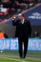Newcastle United manager Rafa Benítez during Tottenham Hotspur vs Newcastle United, Premier League Football at Wembley Stadium on 2nd February 2019